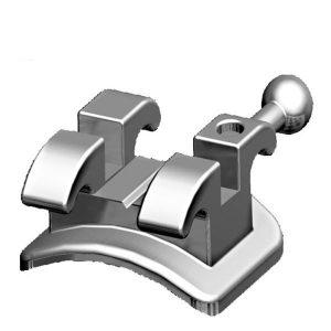 orthodontic dental braces metal vertical  brackets